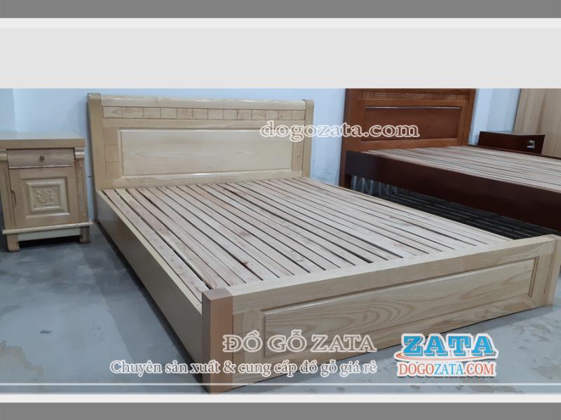 Giường ngủ gỗ thấp 1m6x2m